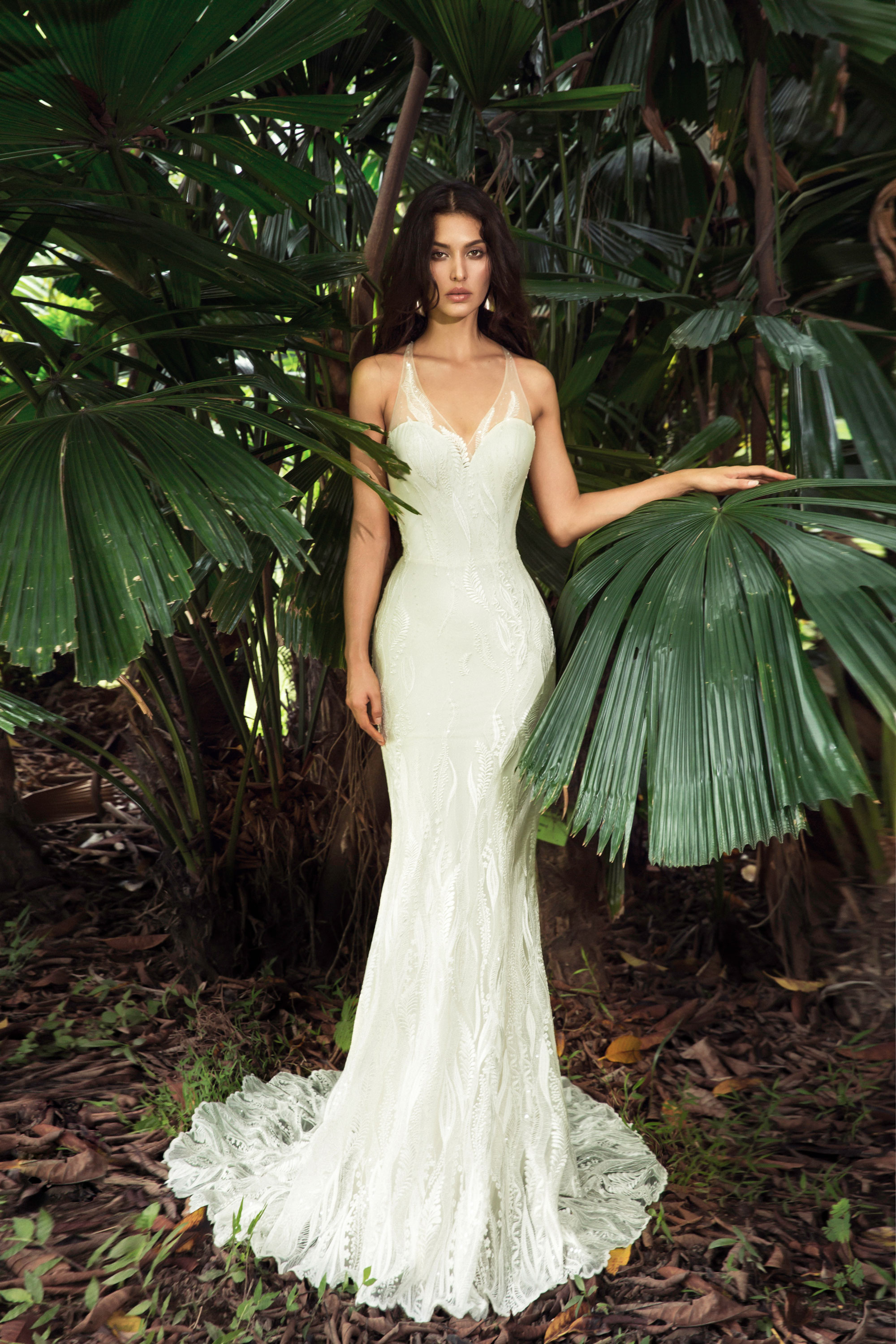 Senna-ivory-tulle-champagne wedding dress