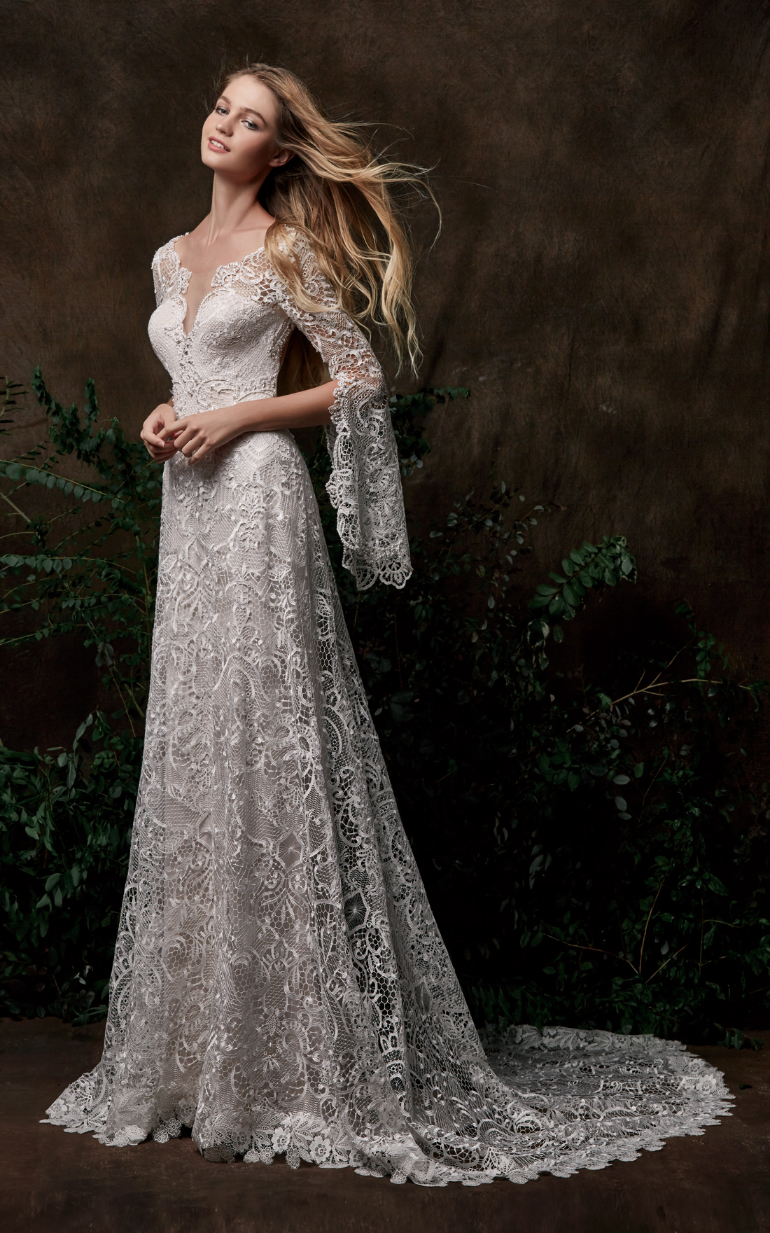 chic-nostalgia-wedding-dress-Fairy-Queen-gown-Bohemian--bell-sleeves