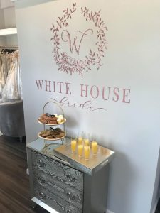 high end White Bride House boutique inside