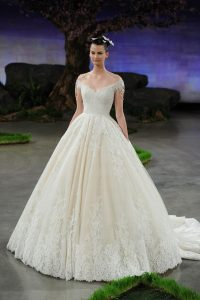 princes style modern wedding dress by Ines di Santo New York