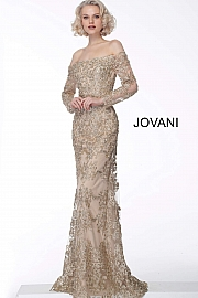 jovani-mother-evening-dress- Embroidered-form-fitting-gown