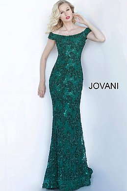 jovani-mother-evening-dress-Emerald-Off-the-Shoulder