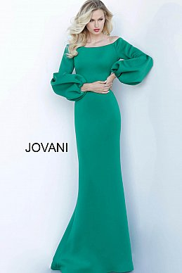 jovani-mother-evening-dress-Green-Off-the-Shoulder
