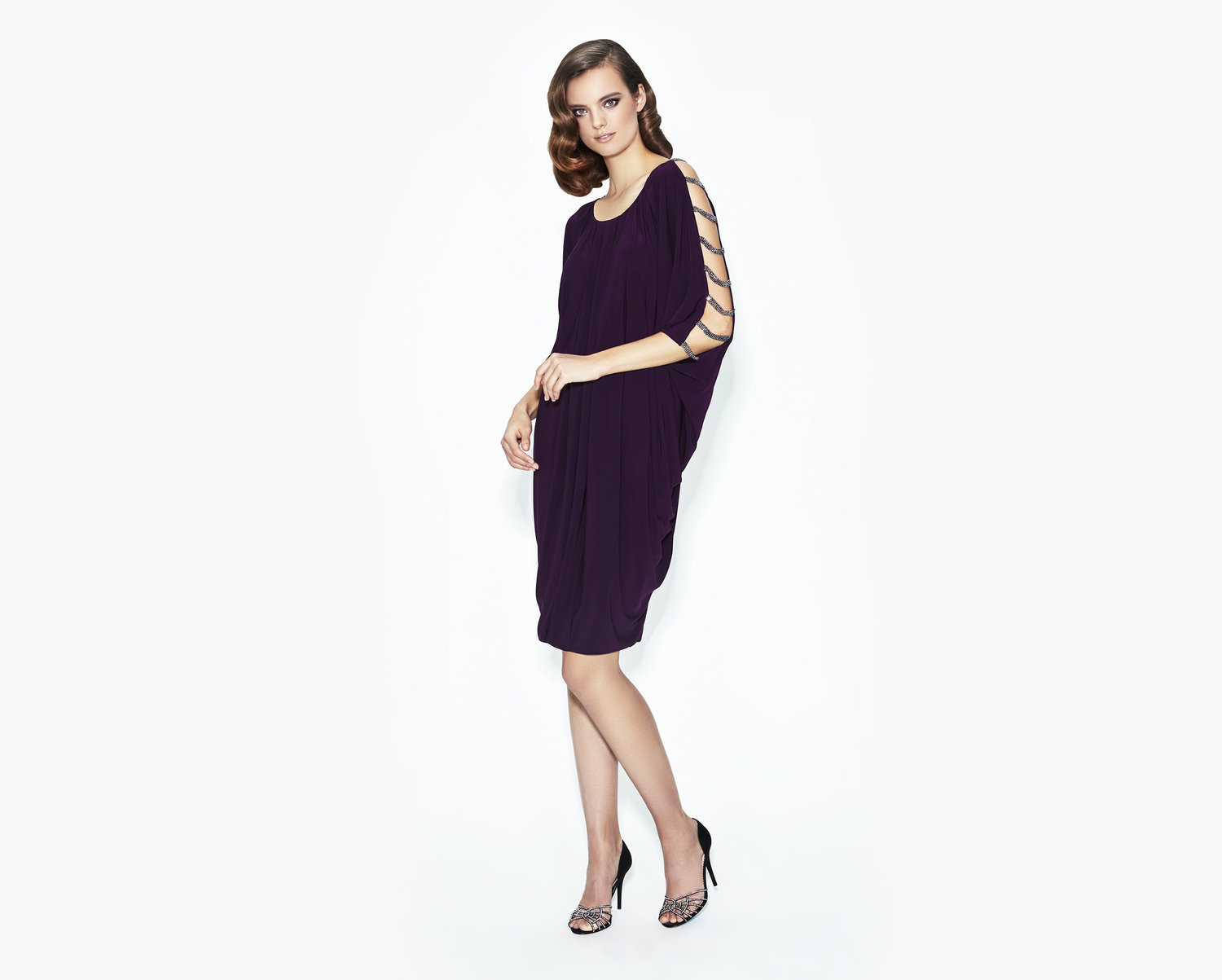 casual elegant mother of the bride-evening-dress