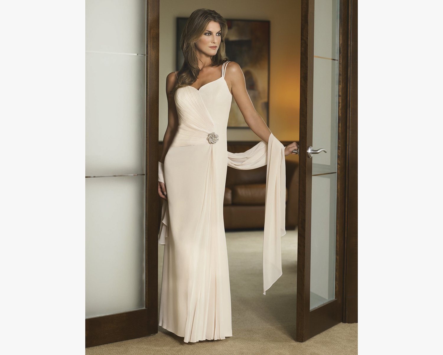 elegant mother of the bride-evening-dress