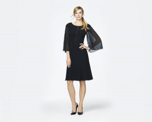 knee length with sleeves mother of the bride-evening-dress