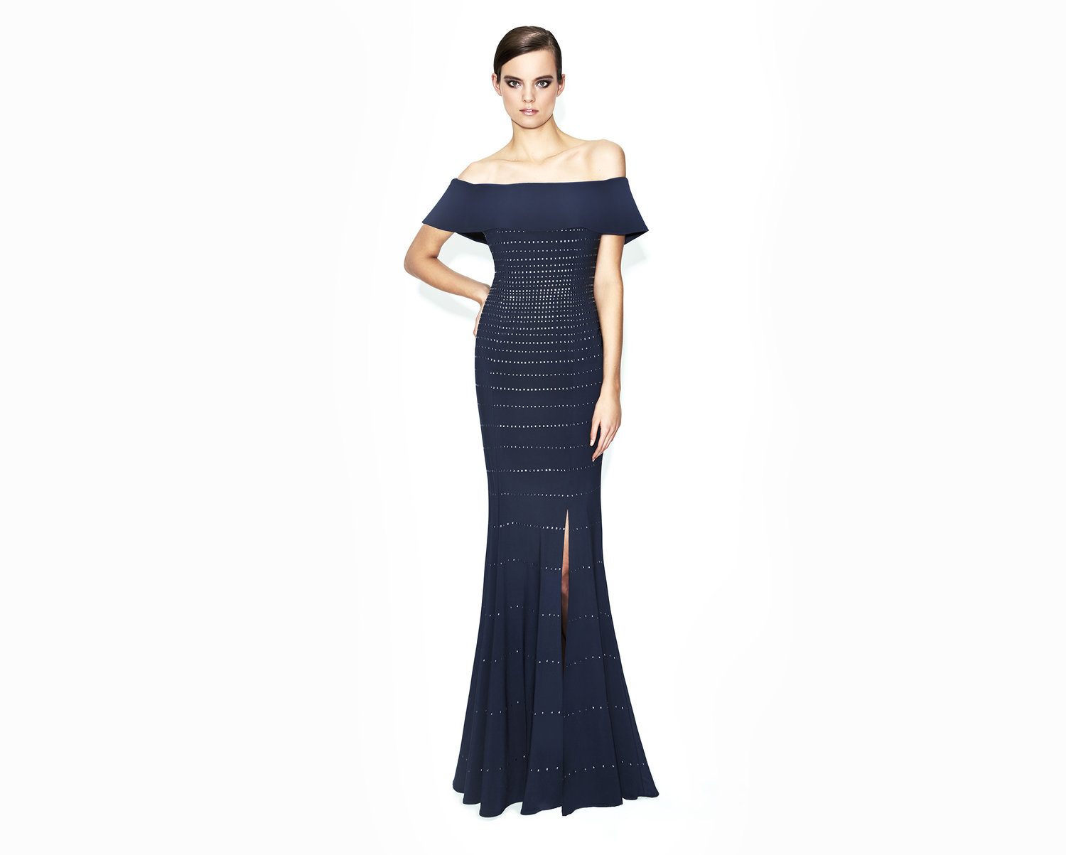 blue mermaid mother of the bride-evening-dress