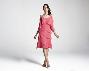 pink knee mother of the bride-evening-dress
