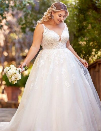 plus-size-wedding-dress-lace-tulle-vneck-aline