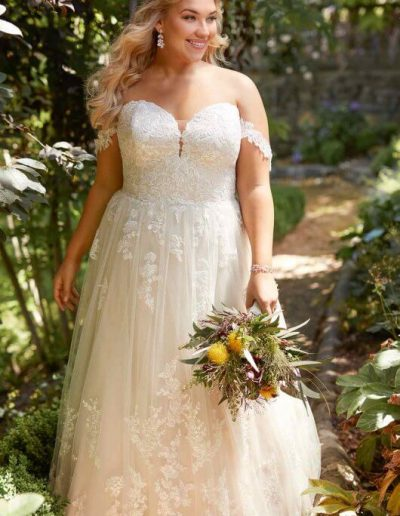 large-size-wedding-dress-offtheshoulder-sweetheart-lace