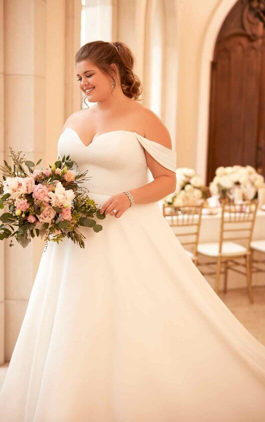 plus-size-wedding-dress-satin-modern-vintage