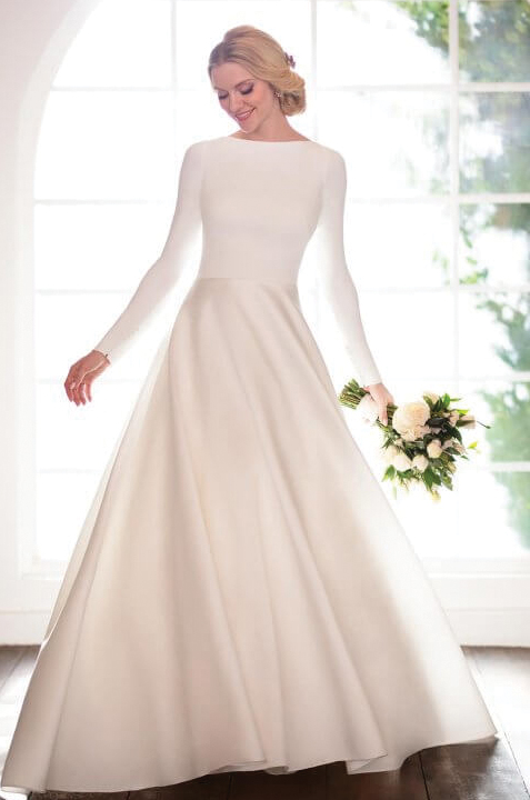 martina-liana-elegant-satin--sleeves-wedding-dress