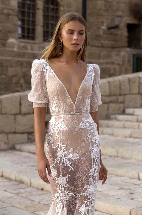 Berta Privée 21-P111-chic-couture-sleeve-lace-wedding-dress