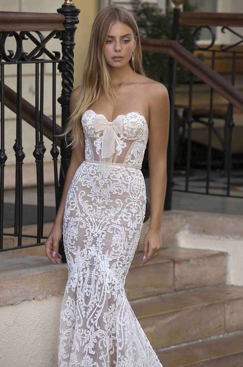 Berta Privée 21-P108-chic-couture-sleeveless-marmaid-wedding-dress