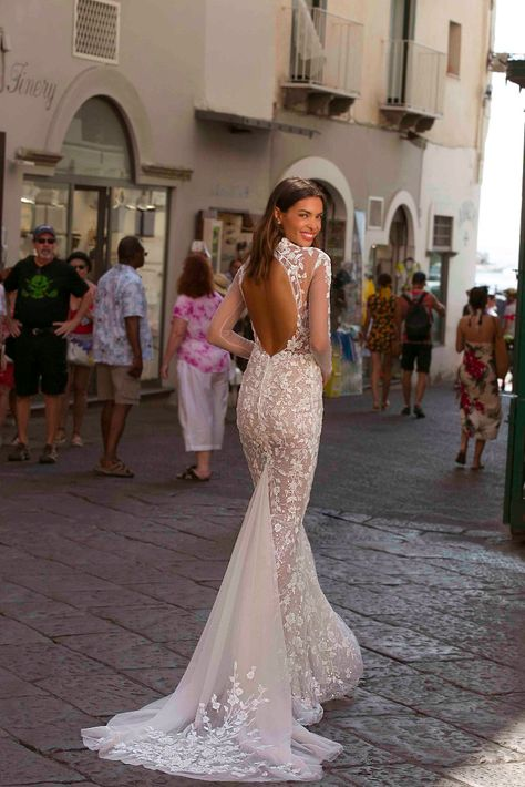 Berta Privée 20-P103-High neck backless wedding dress